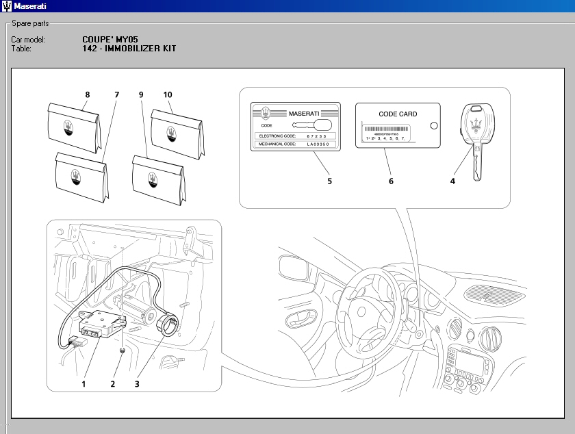 maserati enthusiasts page page from the 2005 coupe parts manual