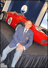 Sir Stirling Moss and the 250F - ©New Zealand Herald