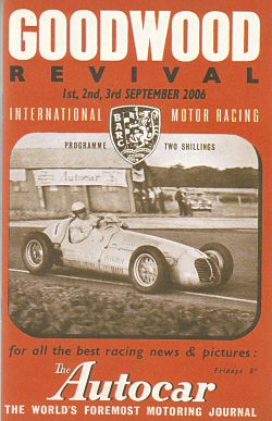 Goodwood Revival programme 2006