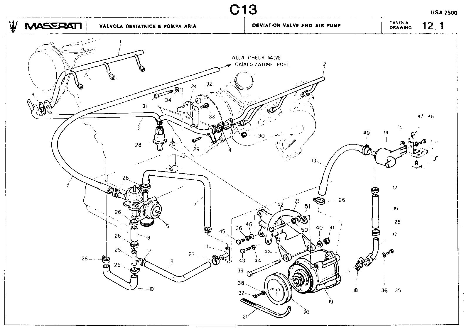 Maserati Wiring Diagrams moreover Maserati Suspension Diagram together with Seat Belts 21467 in addition Break Servo System 52251 together with Exhausts. on maserati shamal