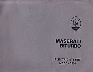 the maserati library text in english